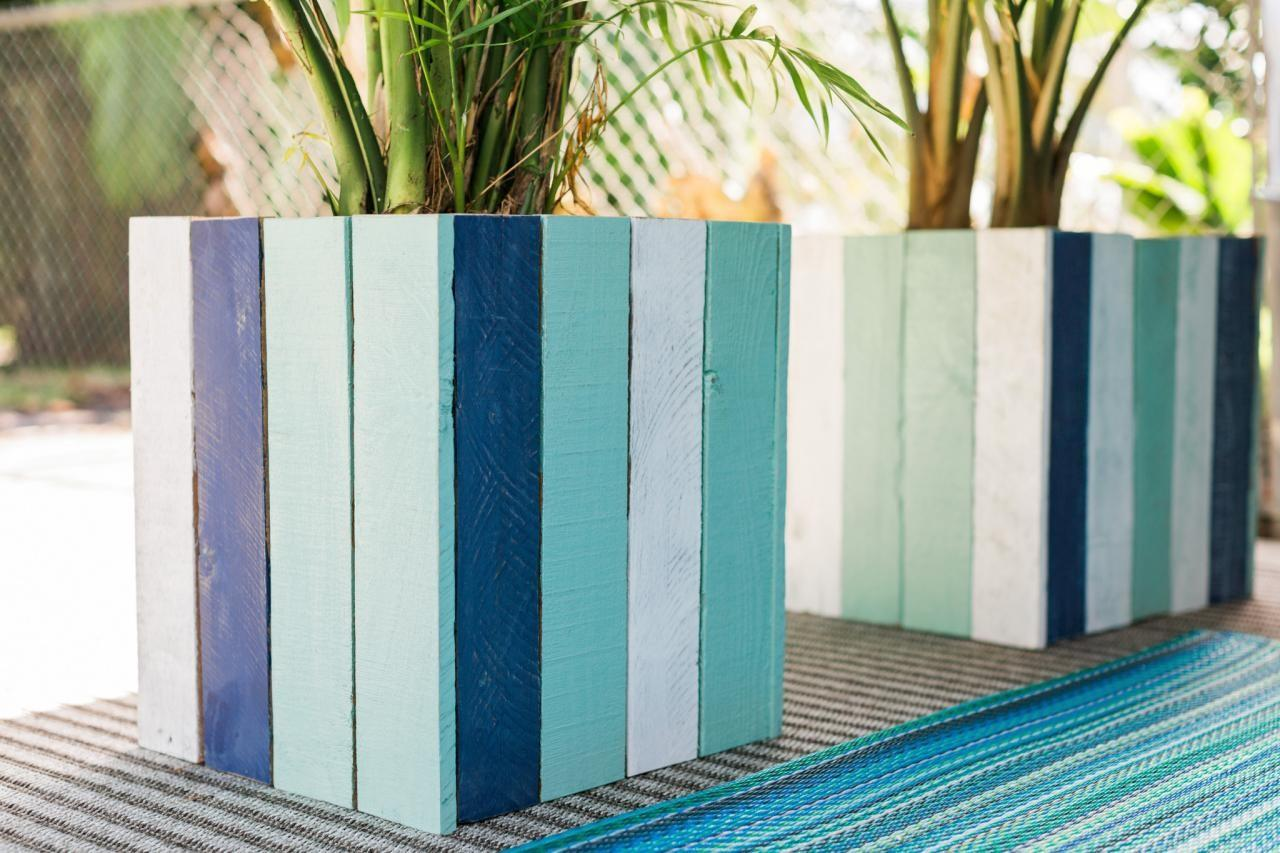 Upcycle Old Pallets Into Colorful Planter Boxes
