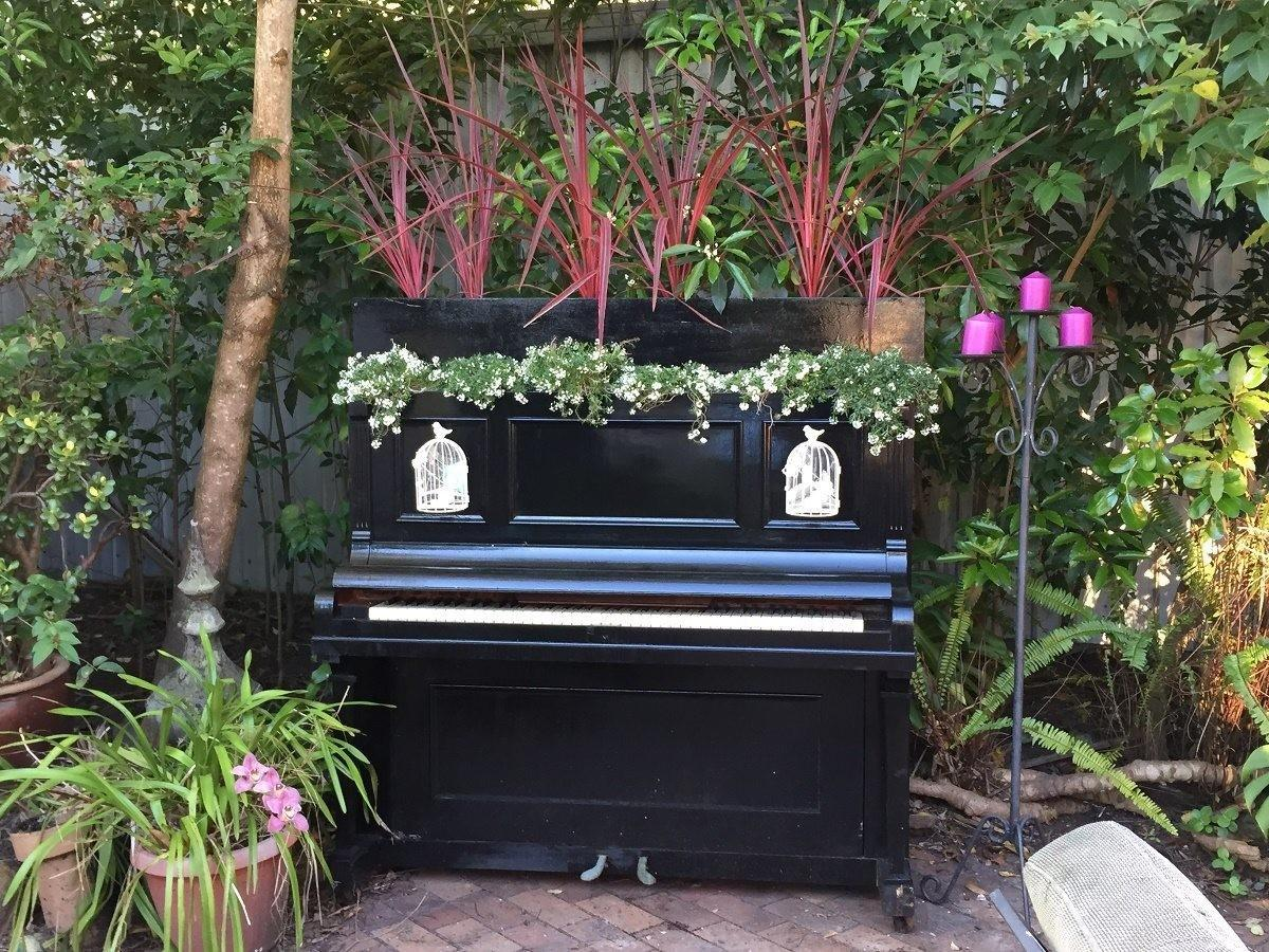 Upcycle Piano Into Garden Planter Recycled