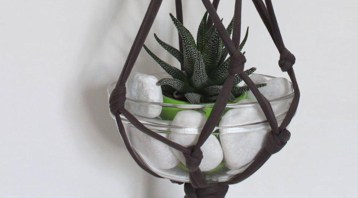 Upcycle Shirt Into Hanging Planter Home Decorating