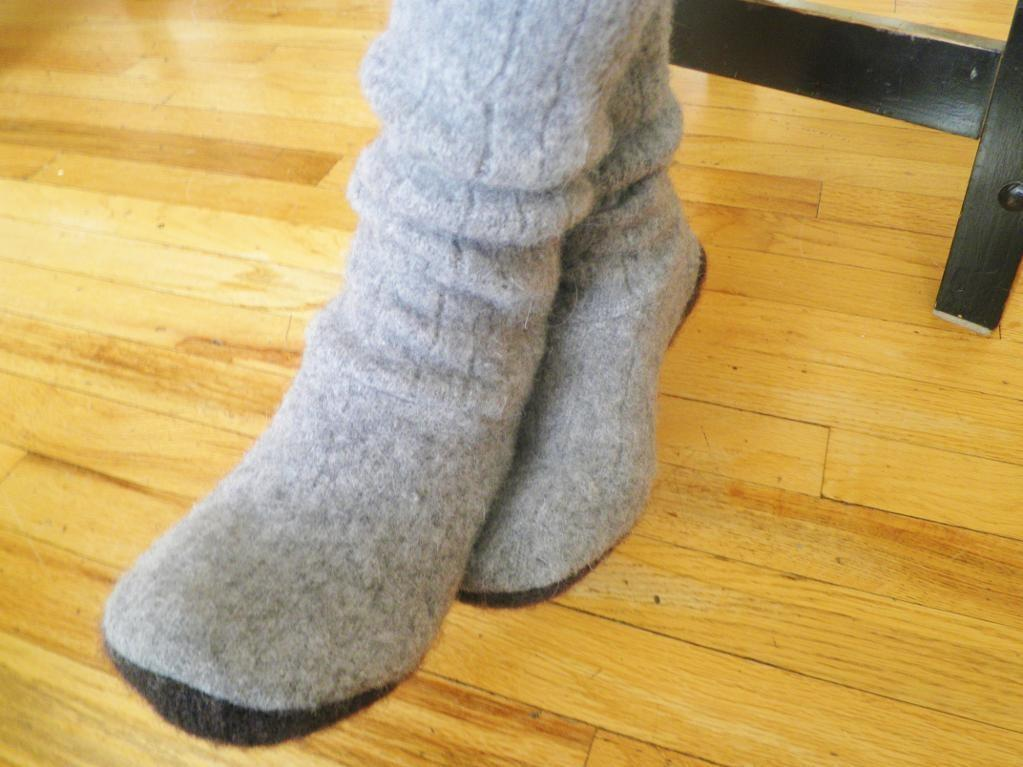 Upcycled Boots Old Sweaters Crafts