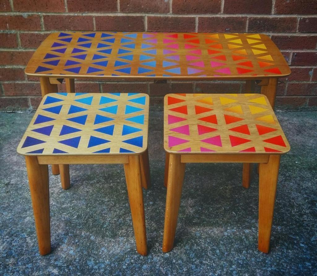 Upcycled Homeworthy Nest Tables Coffee Table Rainbow