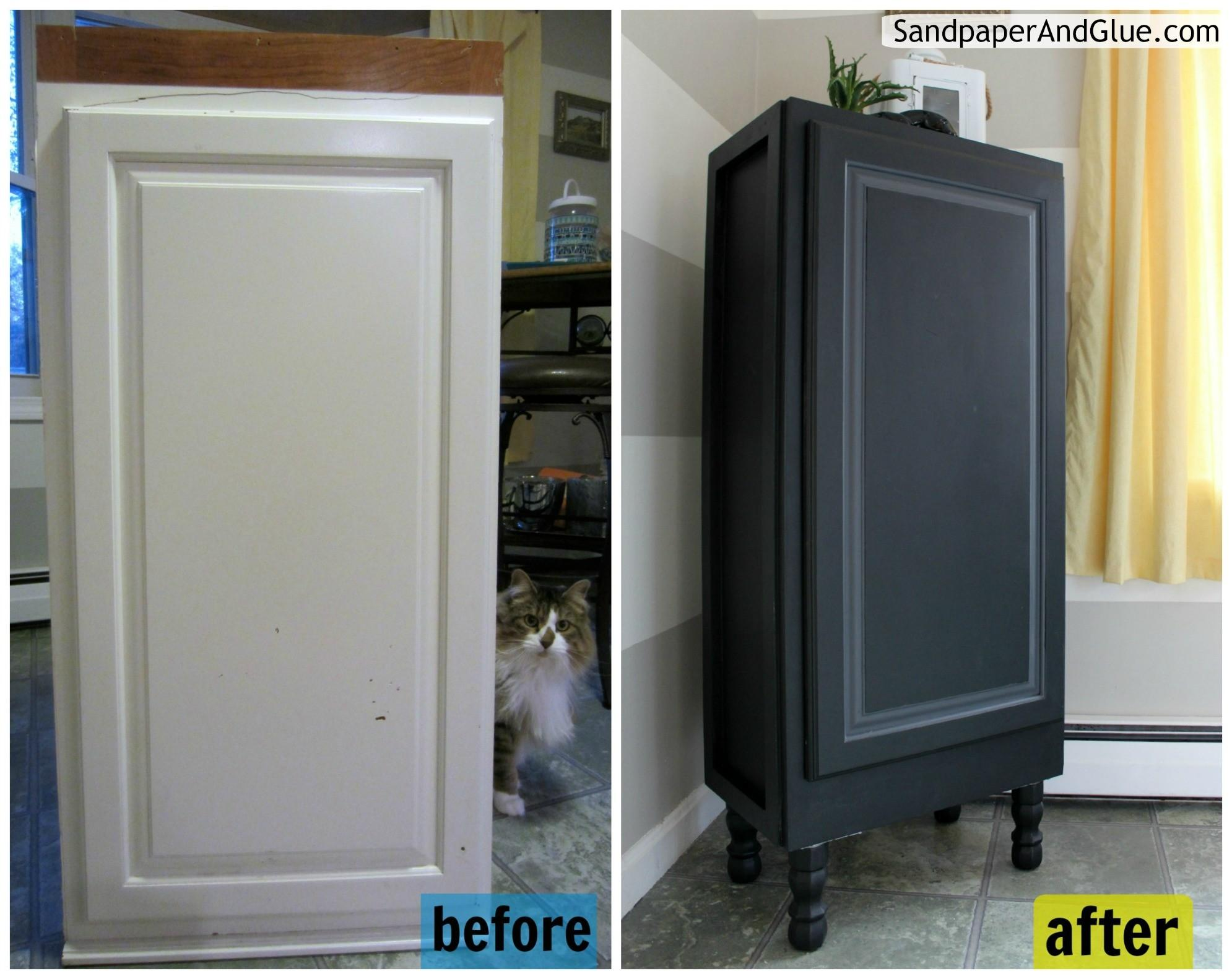 Upcycled Kitchen Cabinet Furniture Repurpose
