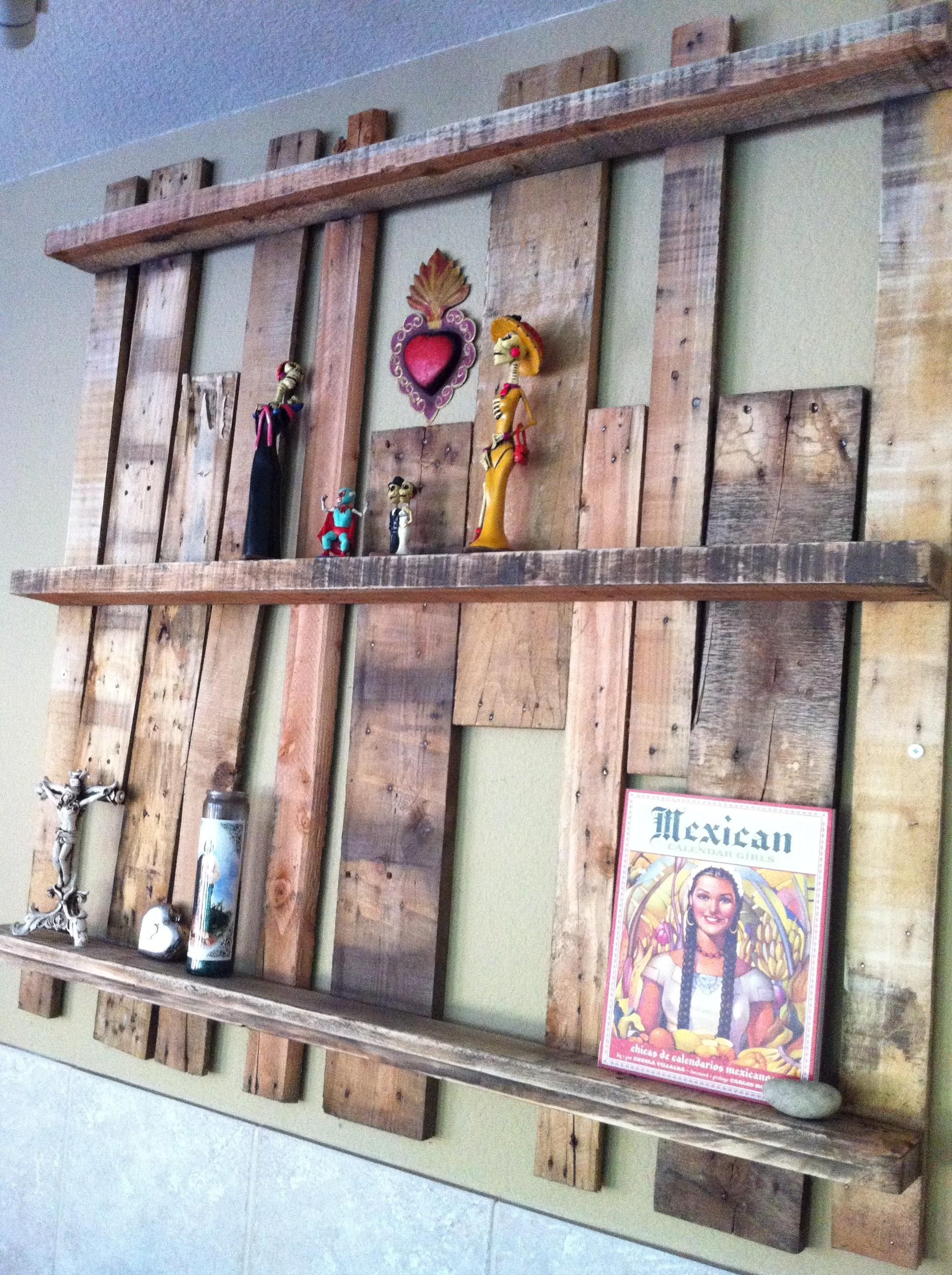 Upcycled Pallet Shelf Project