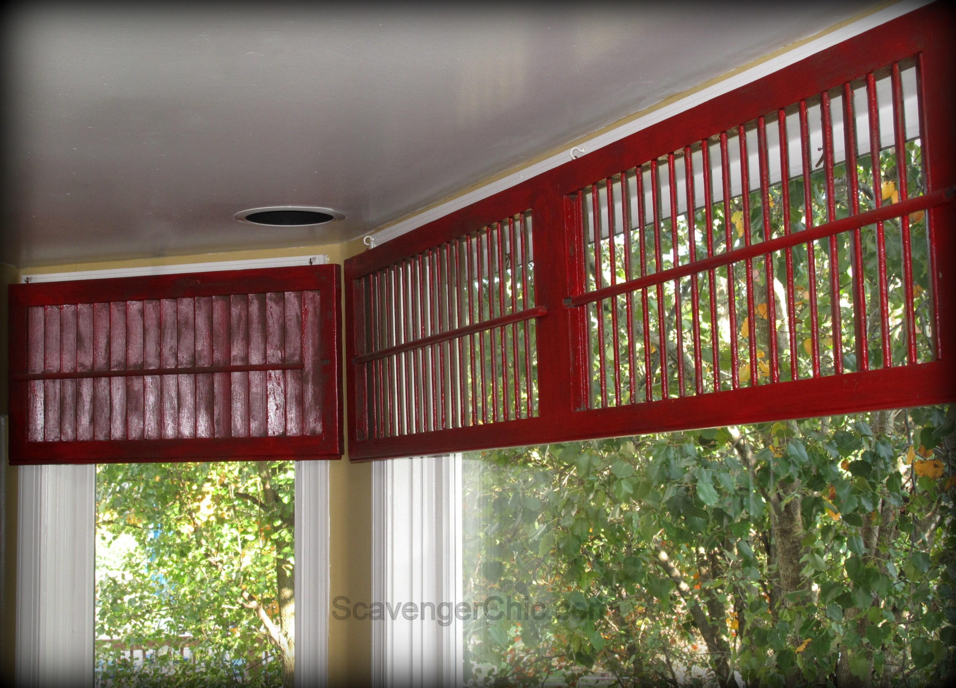 Upcycled Projects Lighting Shutters