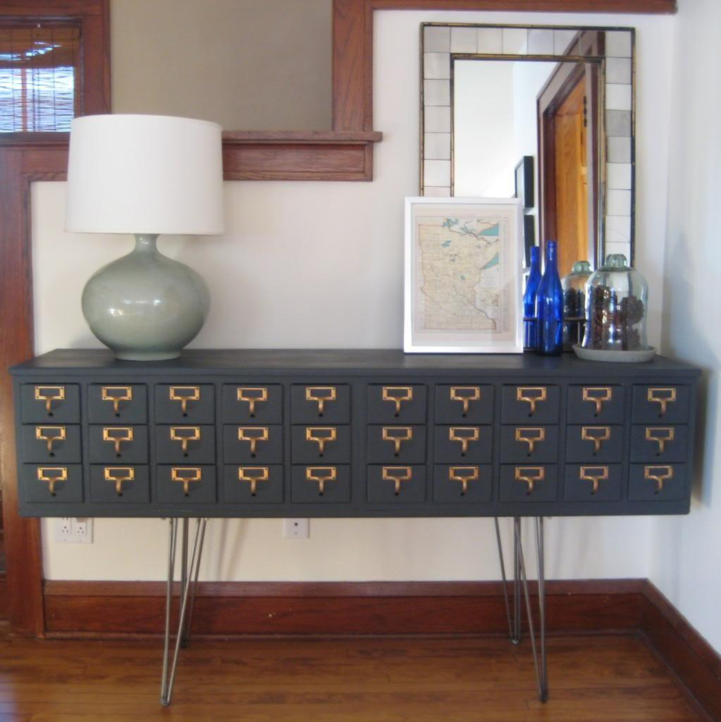 Upcycled School Furniture Card Catalogs