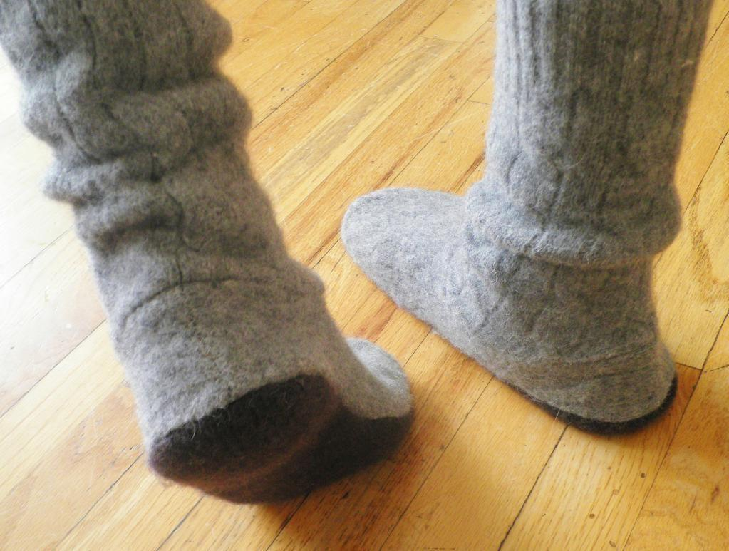 Upcycled Sweater Boots Boot Socks Howell Craftsy