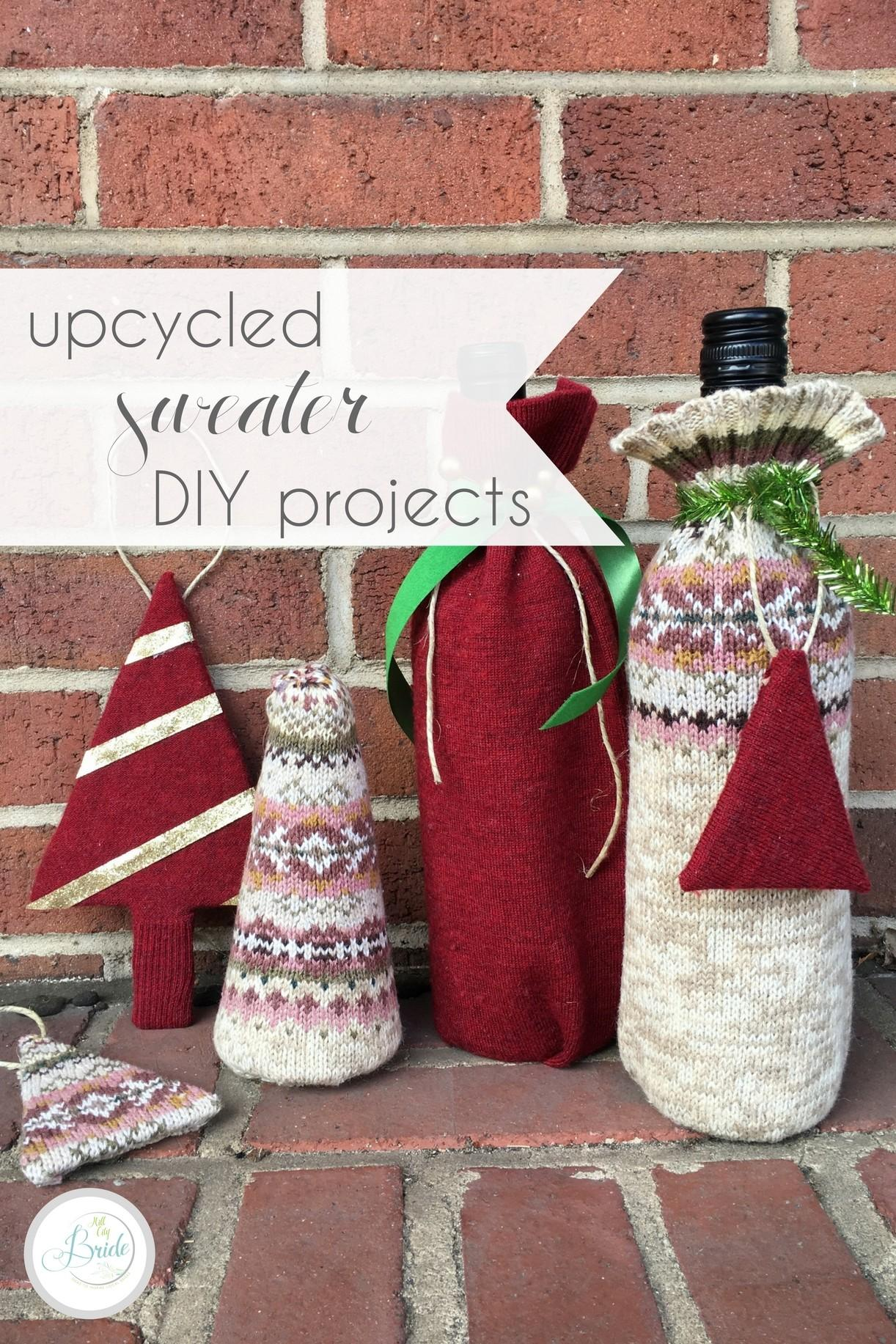 Upcycled Sweater Diy Projects Hill City Bride Virginia