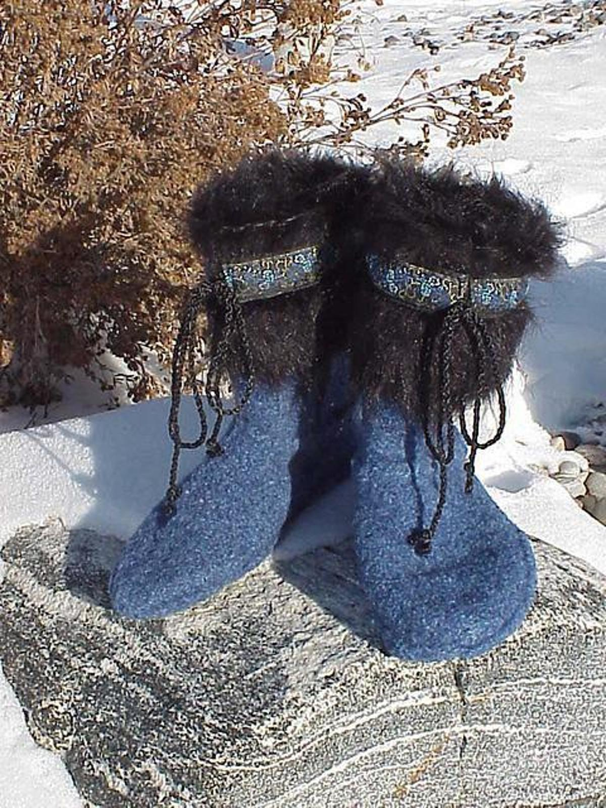 Upcycled Sweater Felted Slippers Boots Craftsy