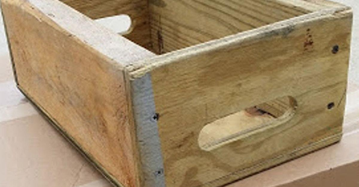 Upcycled Wood Crate Caddy Project Hometalk