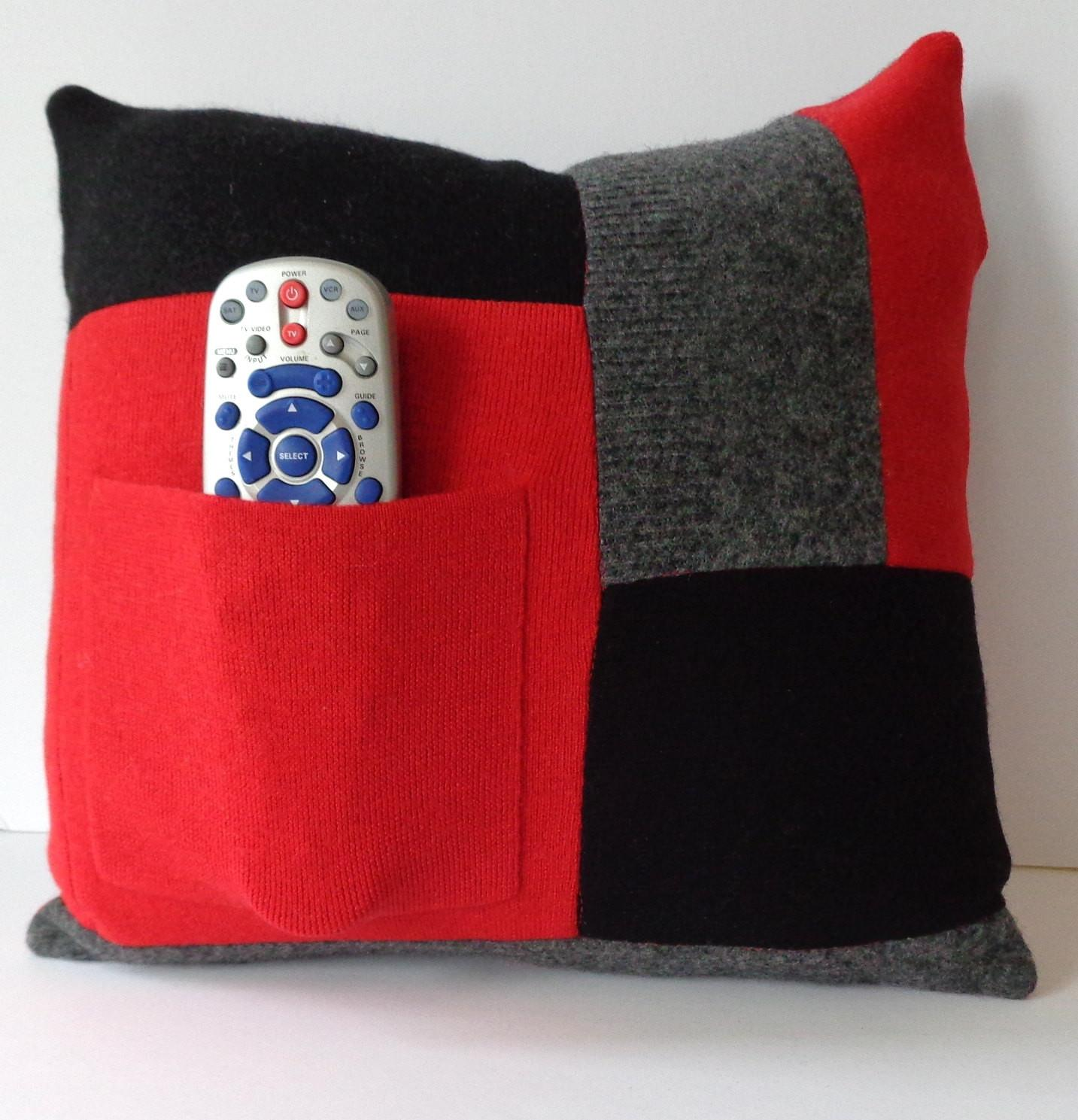 Upcycled Wool Pillow Cover Sweater Throw