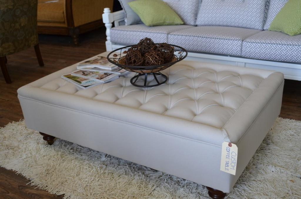 Upholstered Tufted Coffee Table