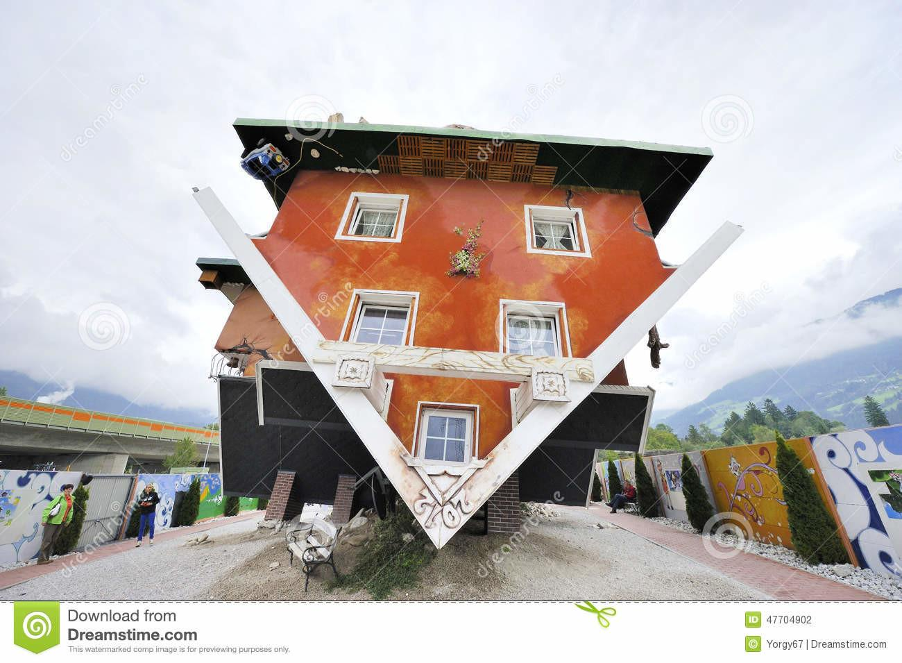 Upside Down House Editorial Photography Unique
