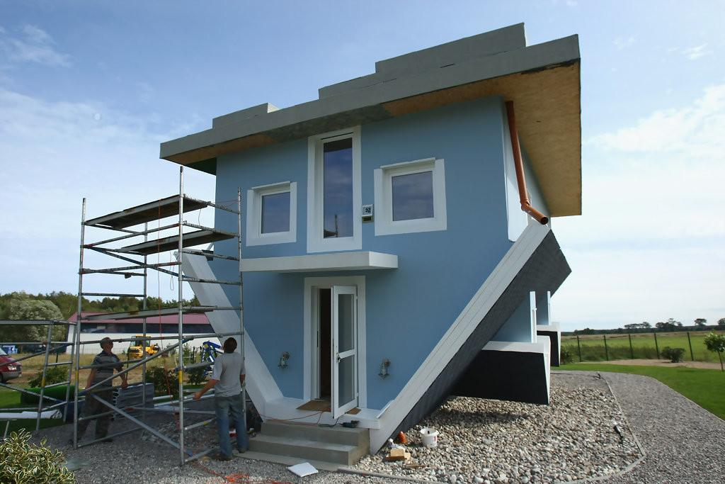 Upside Down House Nears Completion Zimbio