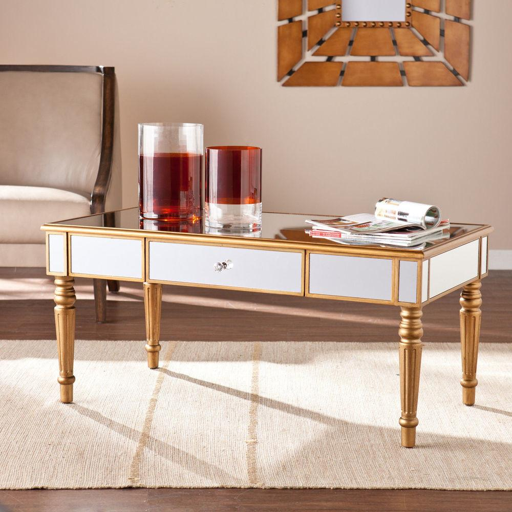 Upton Home Champagne Gold Fontaine Mirrored Cocktail