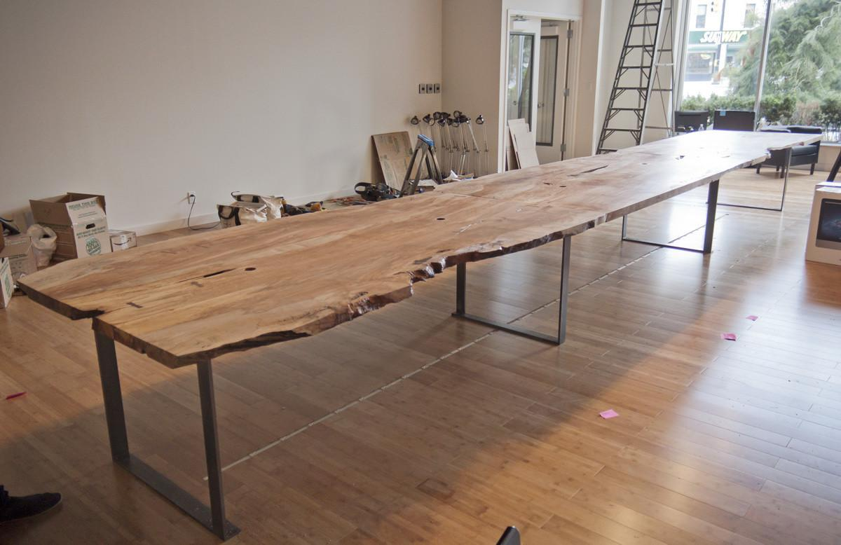 Urban Timber Long Live Edge Table Algin Office Furniture