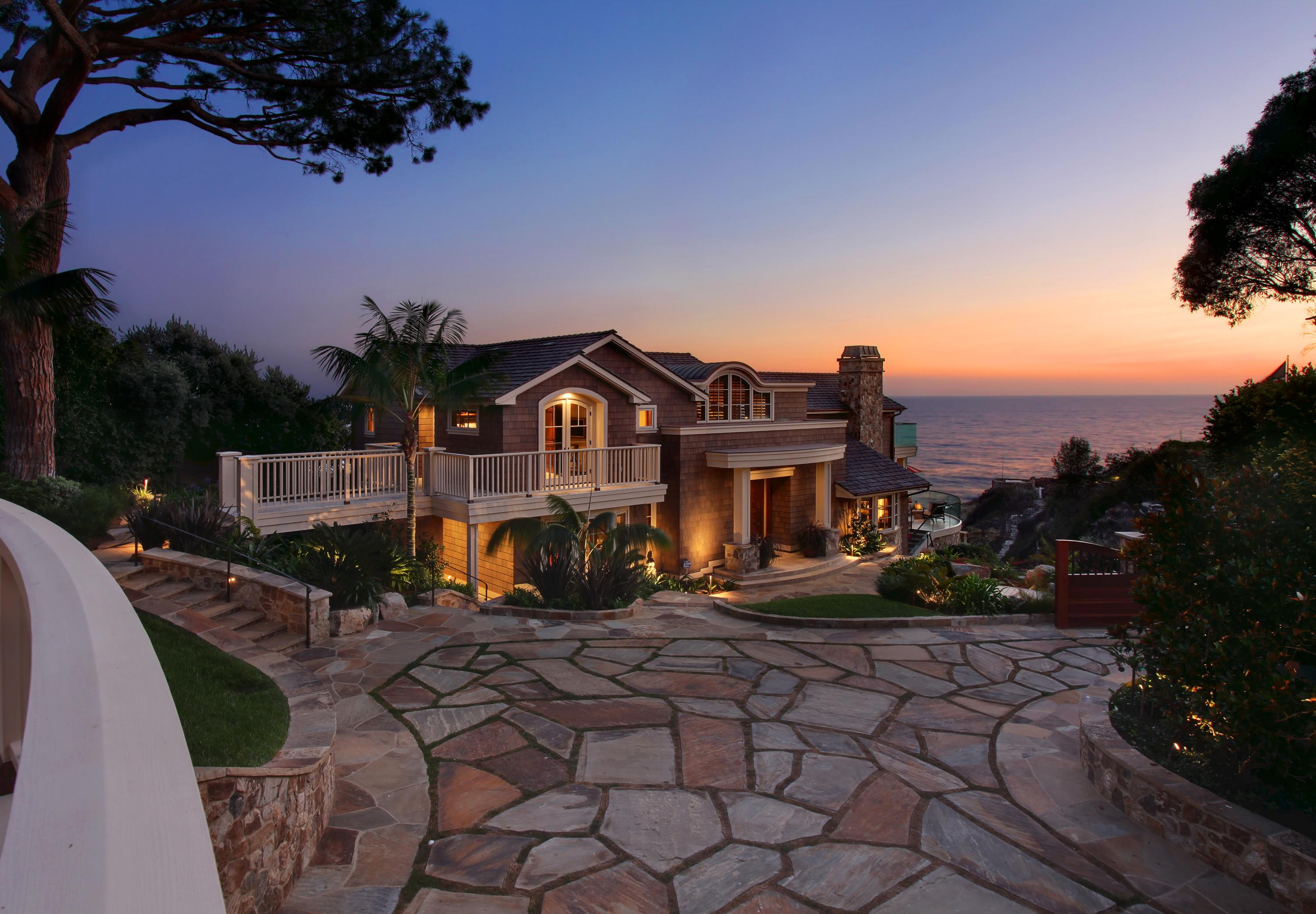 Usa Laguna Beach Mansion Night Cities Houses