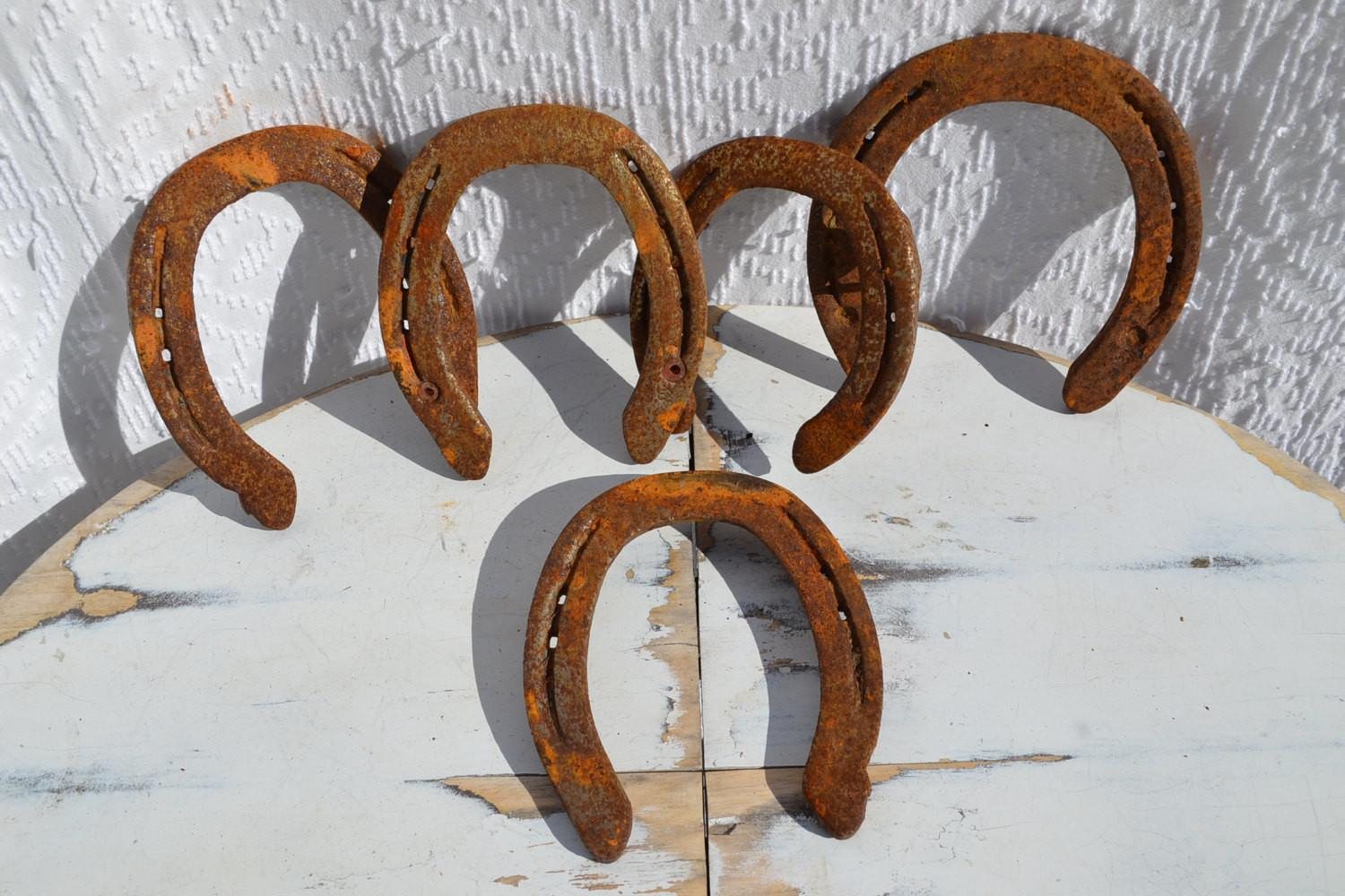 Used Real Horseshoes Rusty Lucky