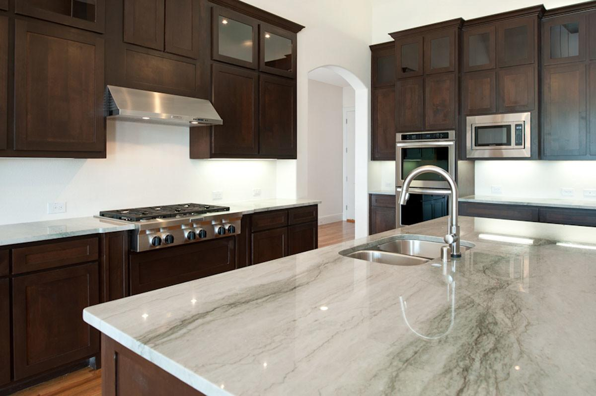 Using White Granite Countertops Modern Kitchen