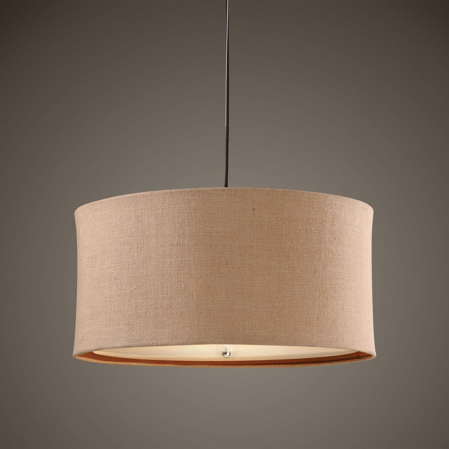 Uttermost Alamo Three Light Drum Pendant Sale