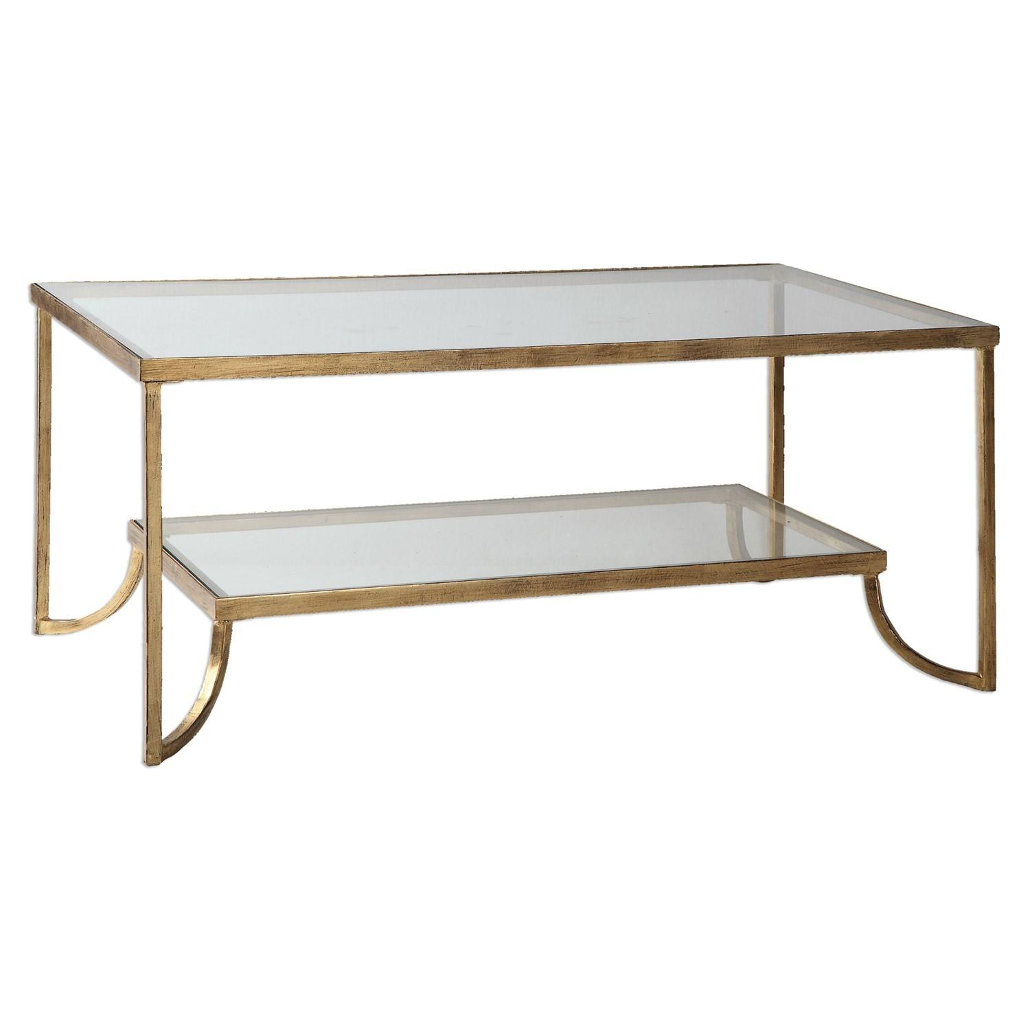 Uttermost Katina Gold Leaf Coffee Table Homeclick