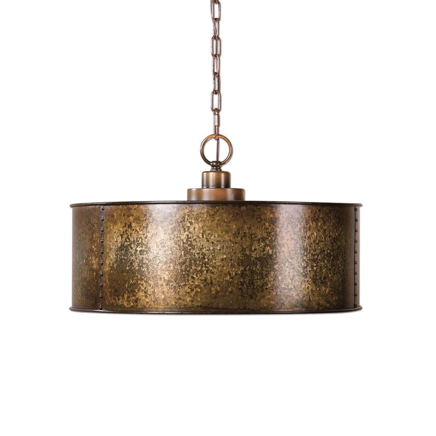 Uttermost Wolcott Gold Three Light Pendant Sale