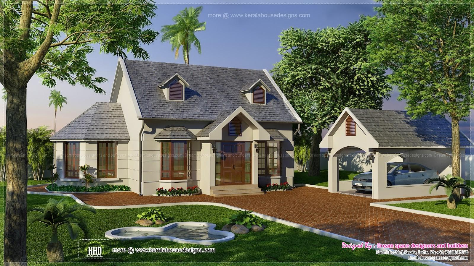 Vacation Garden Home Design 1200 Feet Kerala