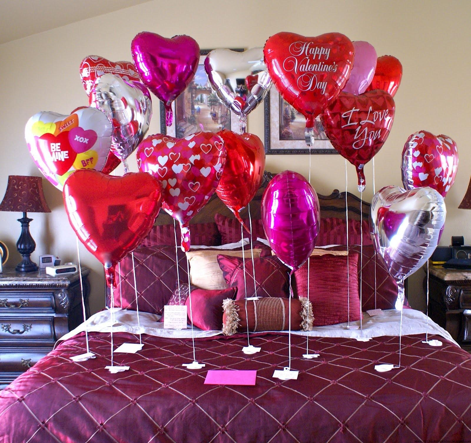 Valentine Day Bed Room Decoration Ideas 2016
