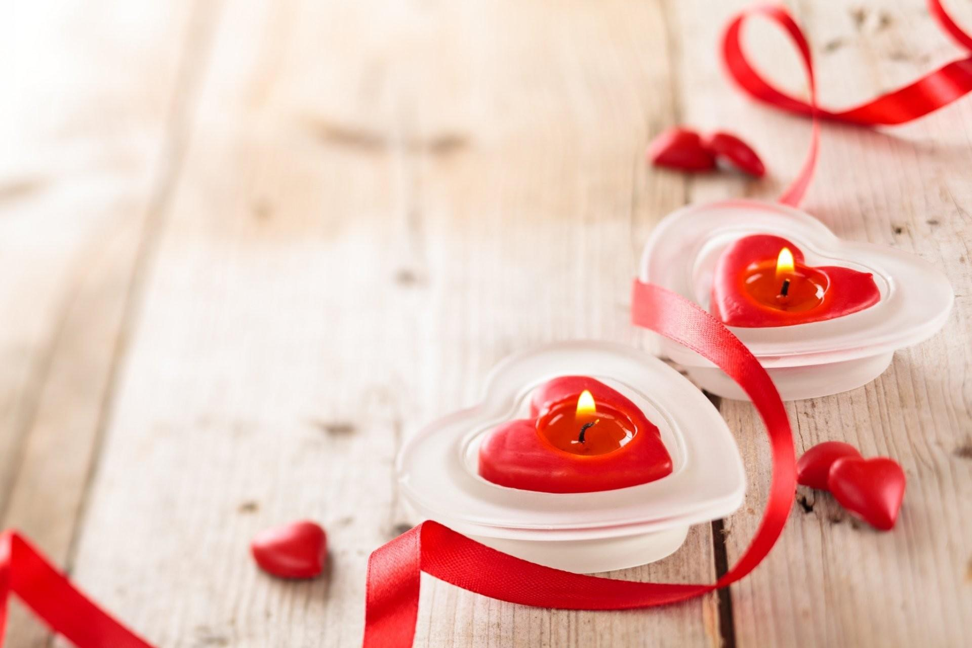 Valentine Day Candles Heart