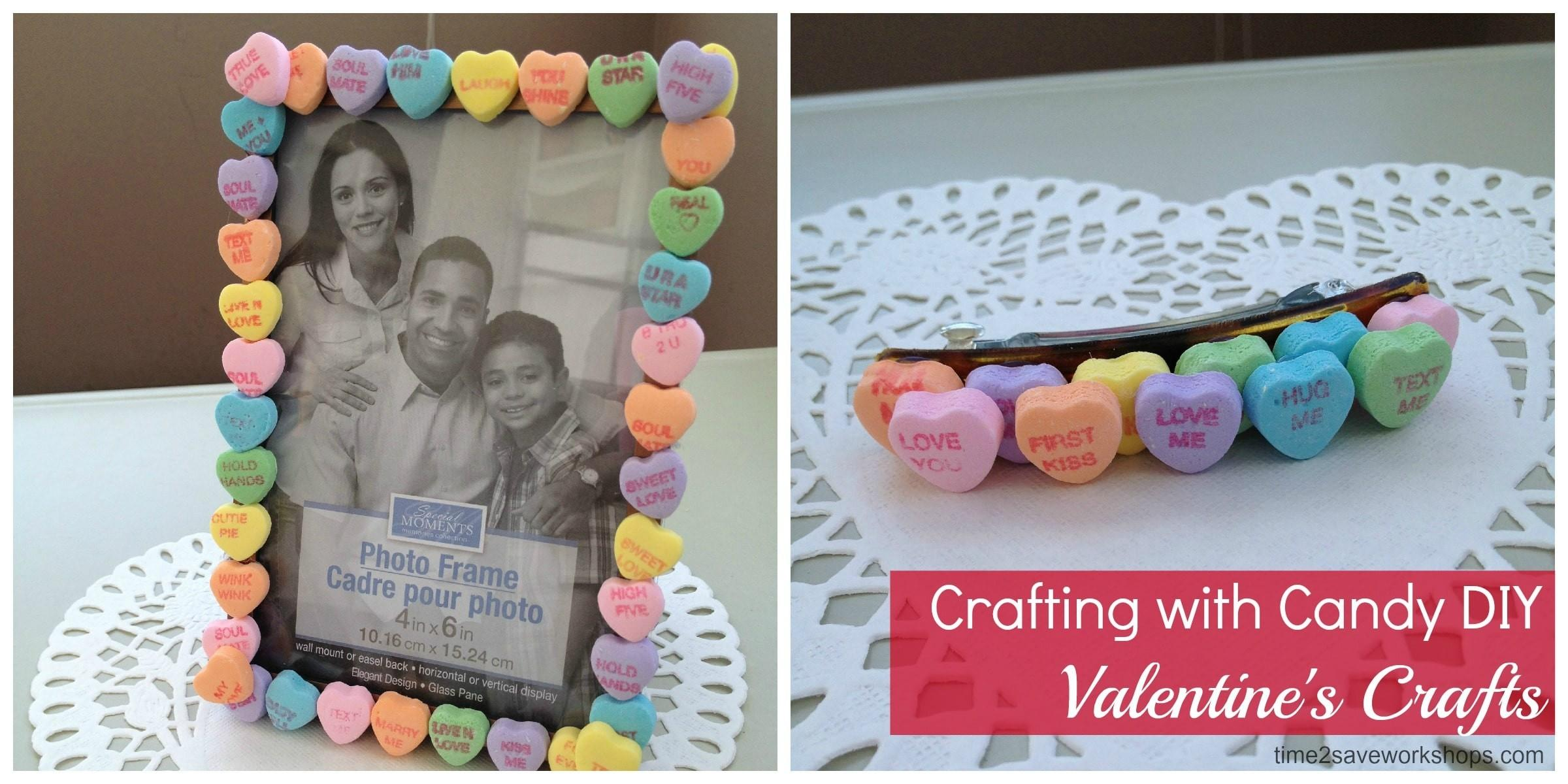 Valentine Day Crafts Candy Barrettes Frames