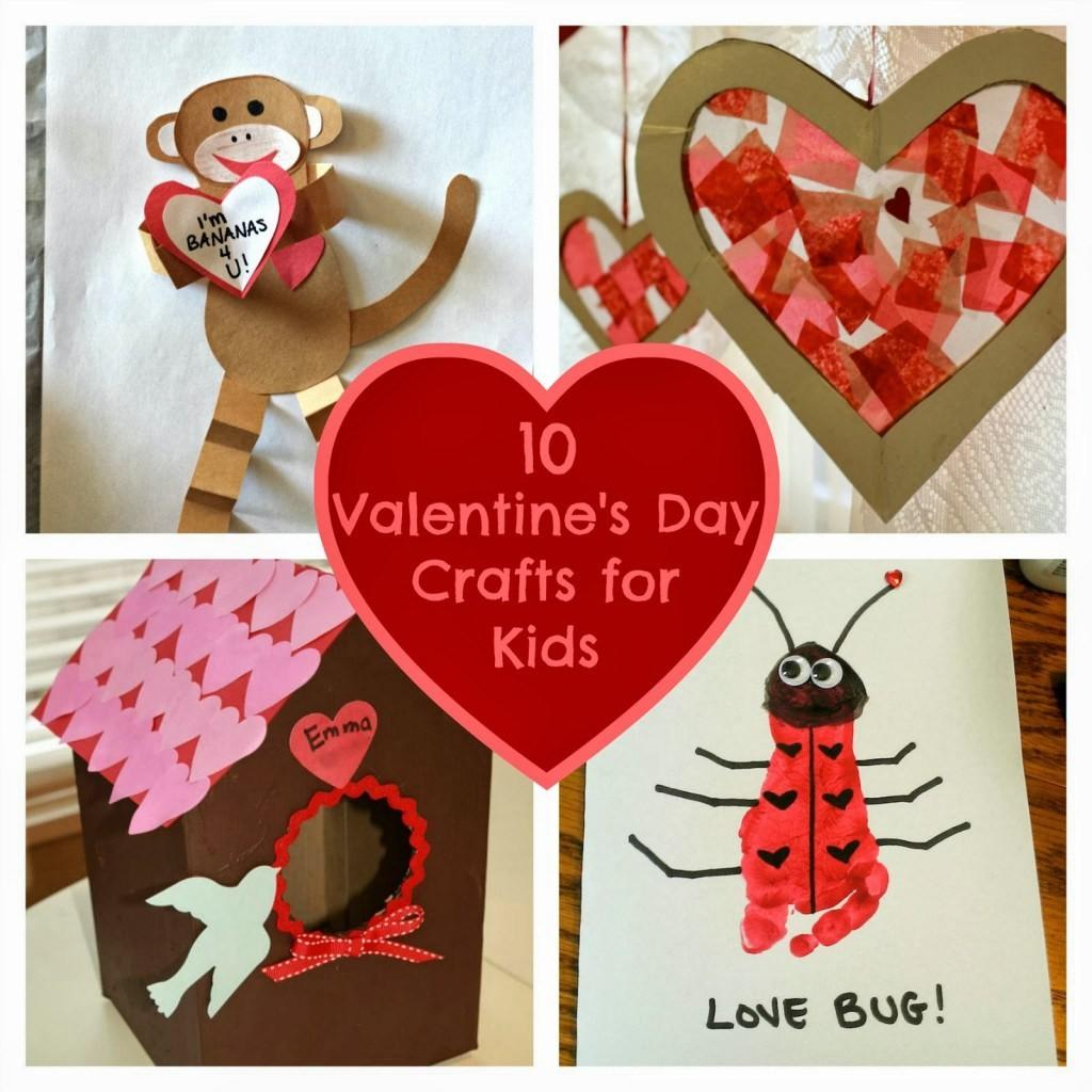 Valentine Day Crafts Kids Fun Home Things