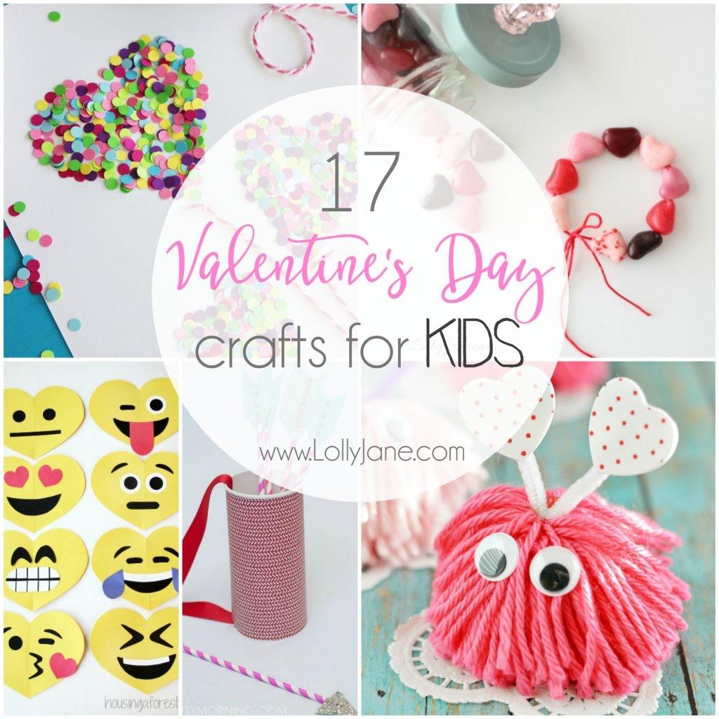 Valentine Day Crafts Kids Lolly Jane