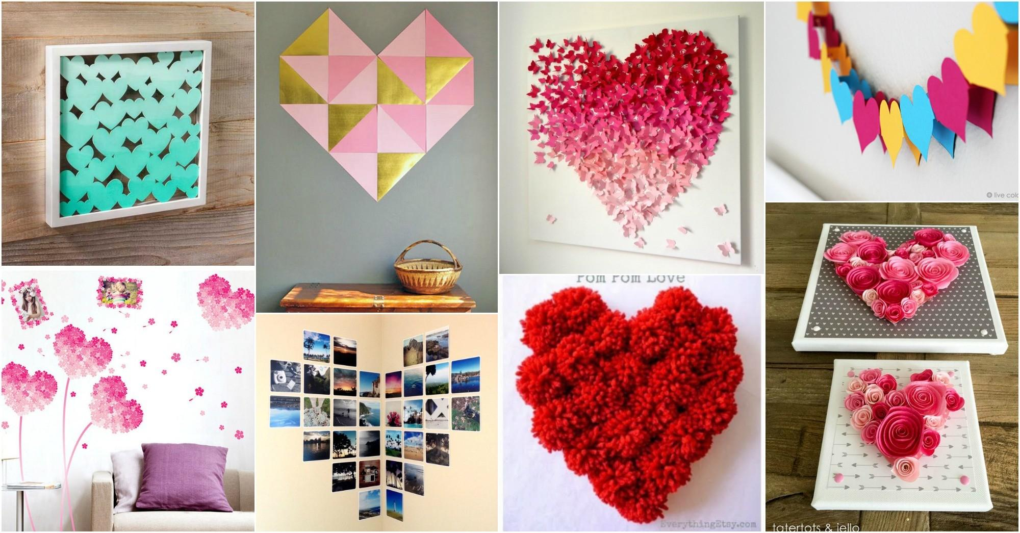 Valentine Day Diy Wall Hearts Melt Your Heart