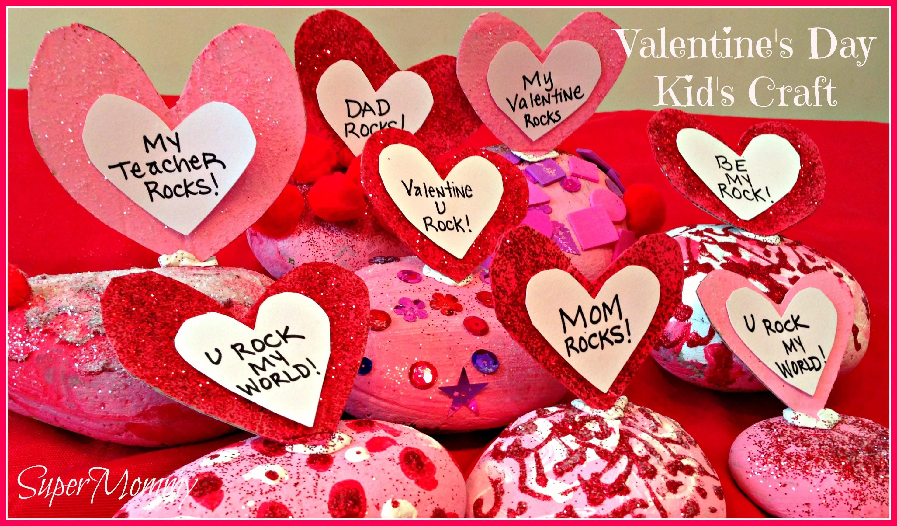 Valentine Day Easy Craft Kids Conversation Rocks