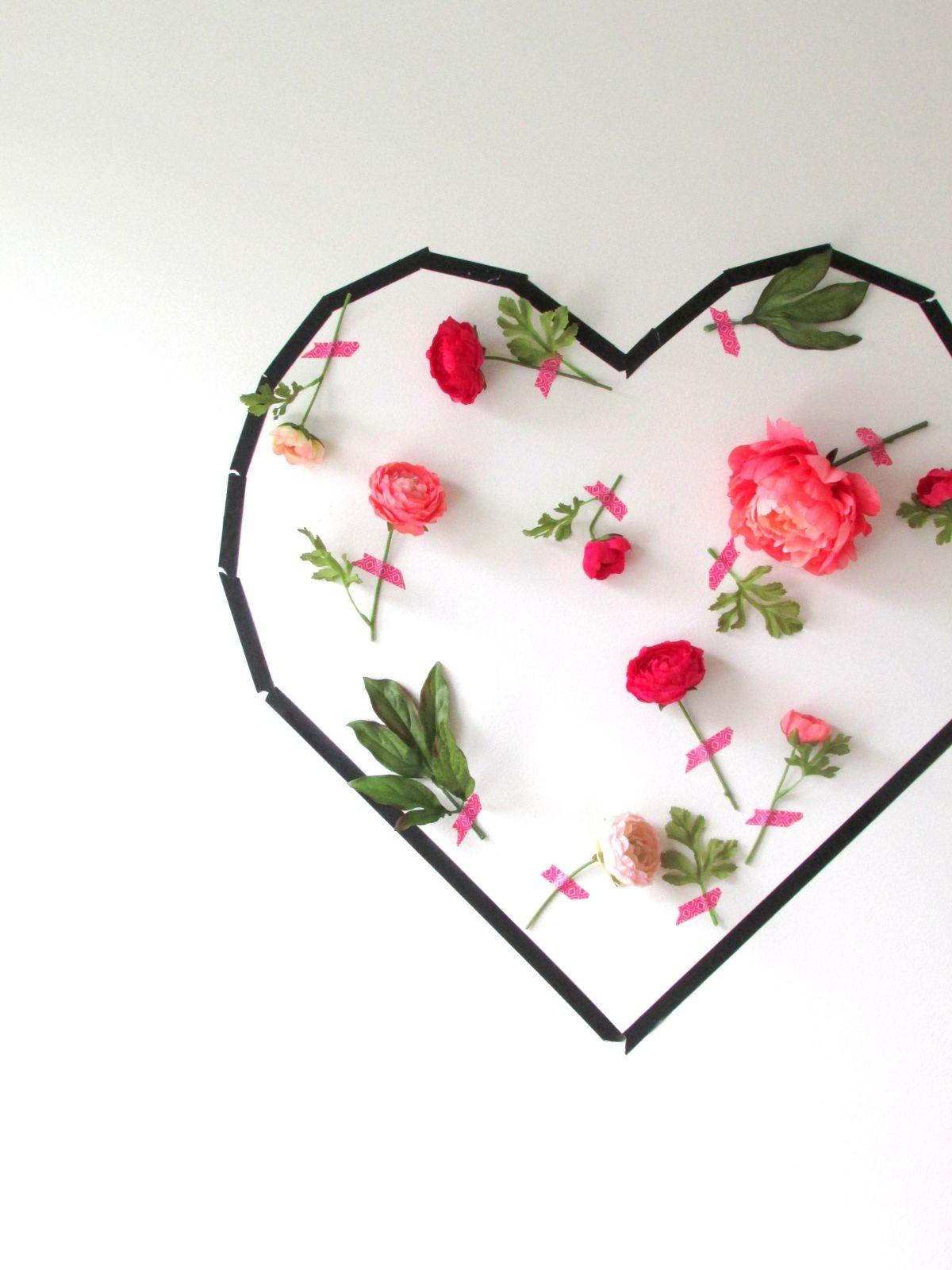 Valentine Day Flower Wall Art