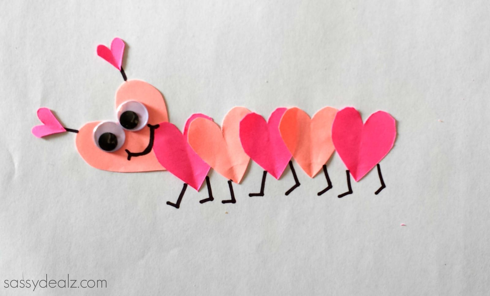 Valentine Day Heart Caterpillar Craft Kids Crafty