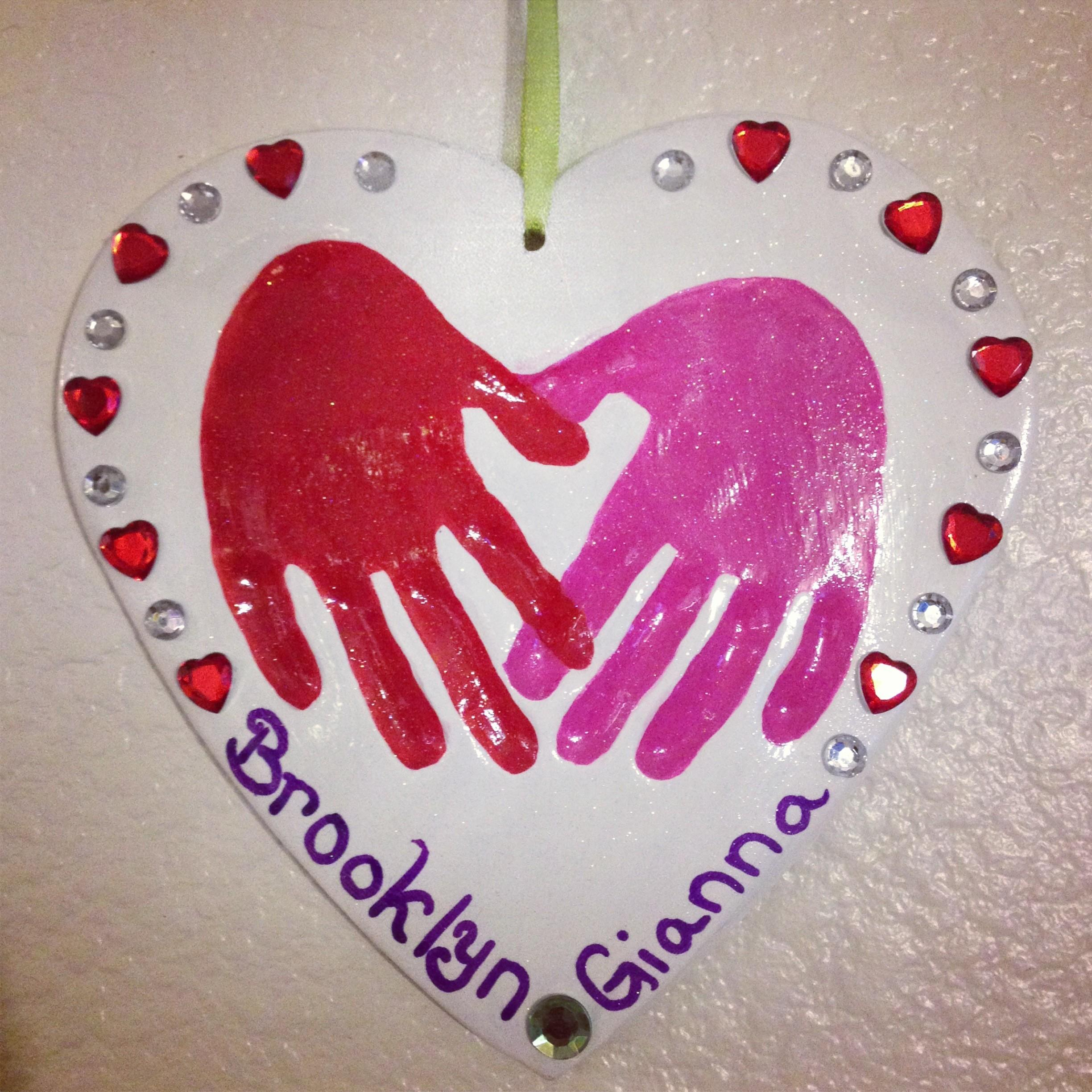 Valentine Day Heart Handprint Poem Quotes
