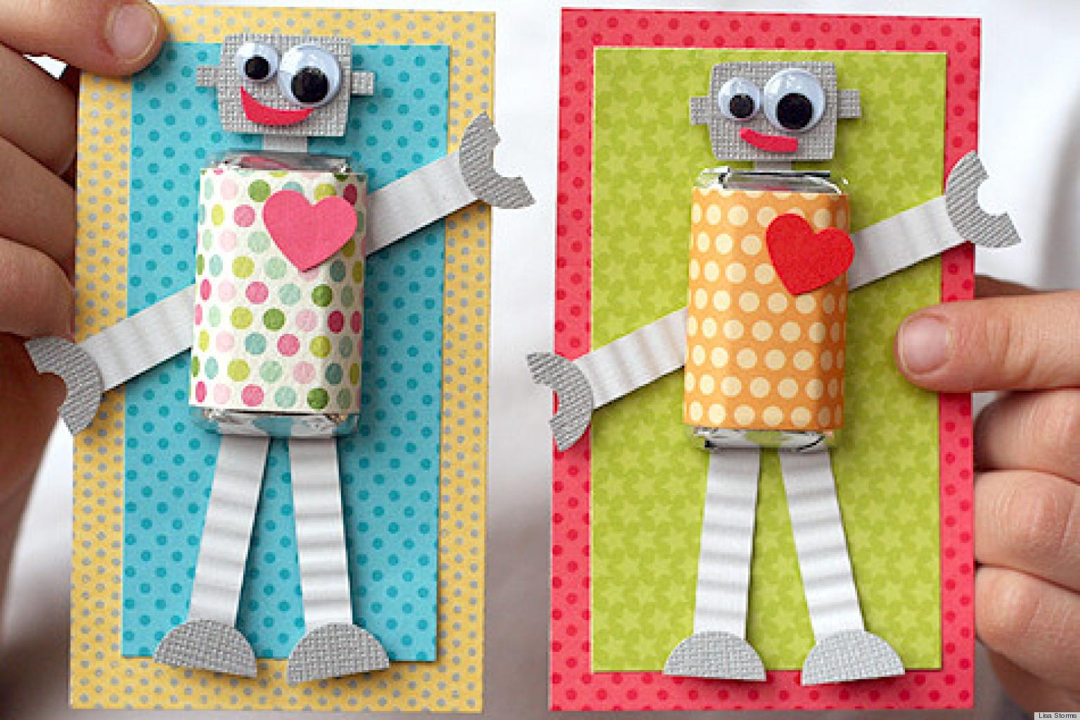 Valentine Day Ideas Make These Adorable Diy Robot Cards