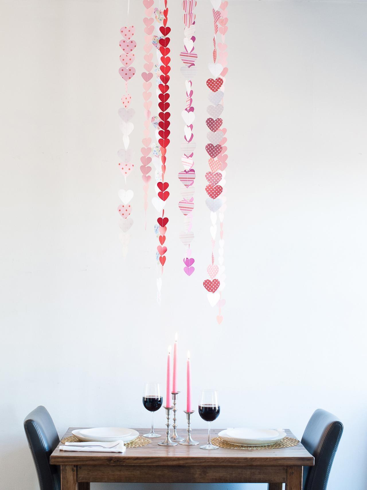 Valentine Day Paper Heart Garland Easy Crafts
