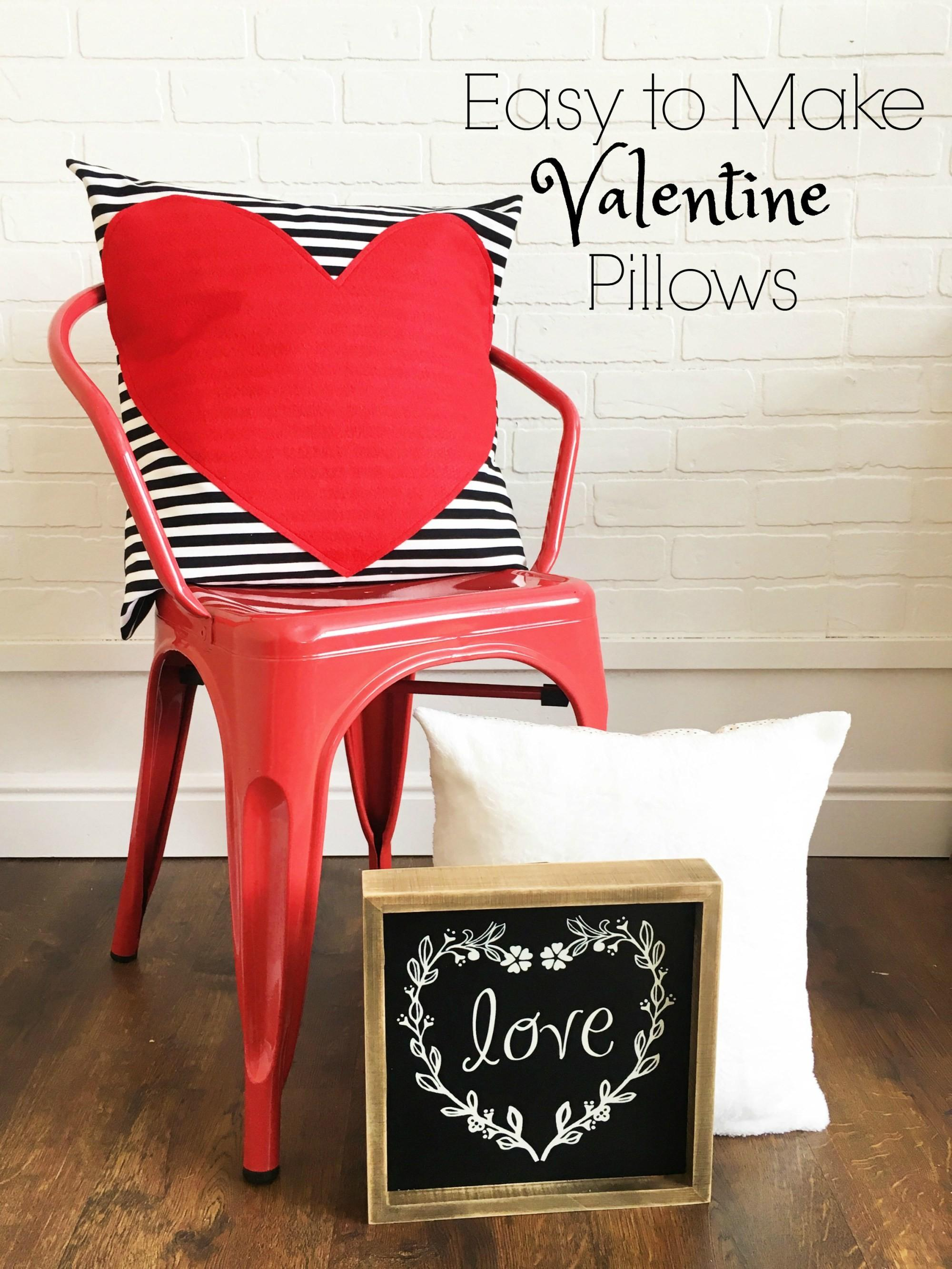 Valentine Pillows Polka Dot Chair