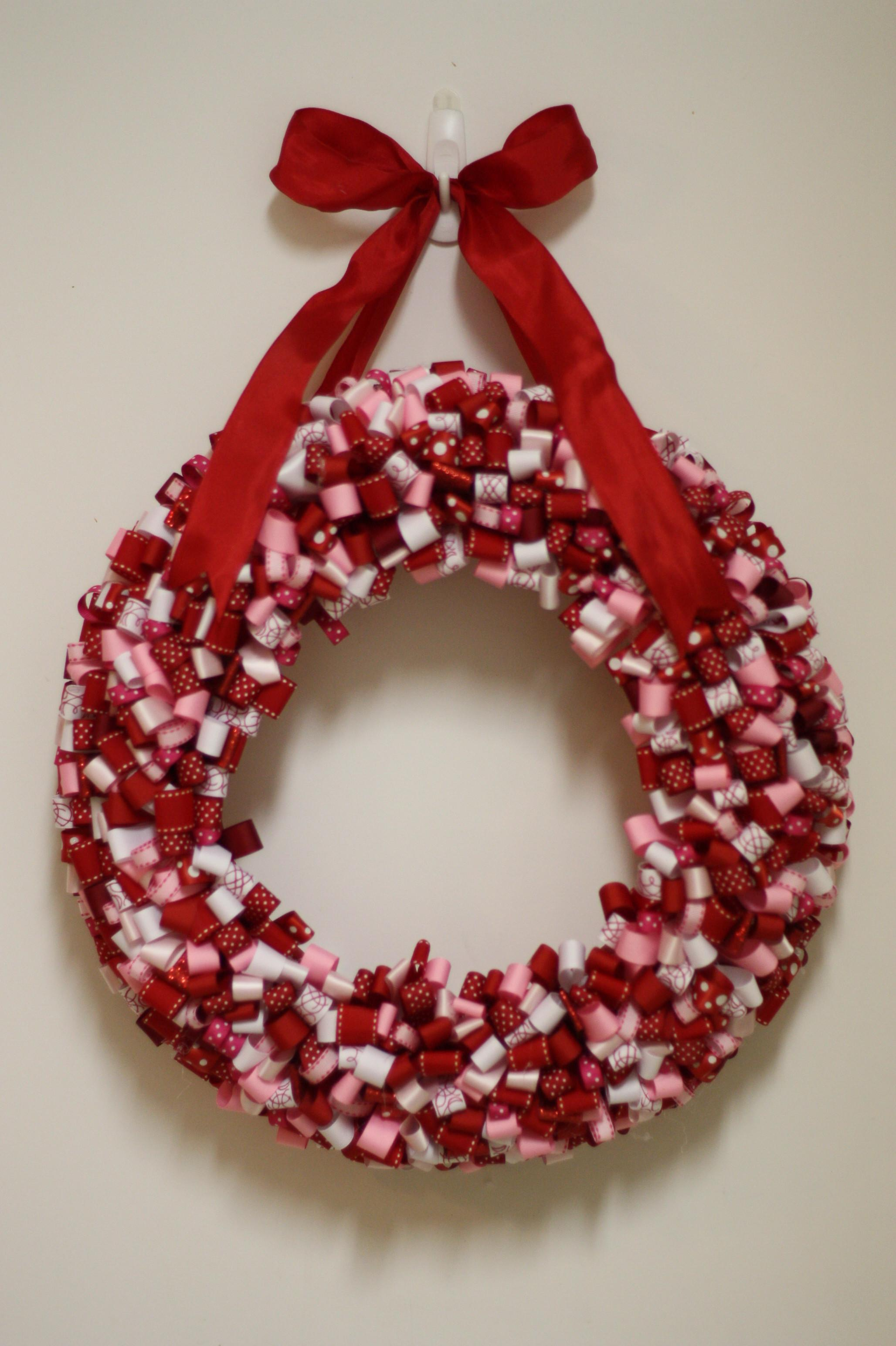 Valentine Ribbon Wreath Project Gone Wrong