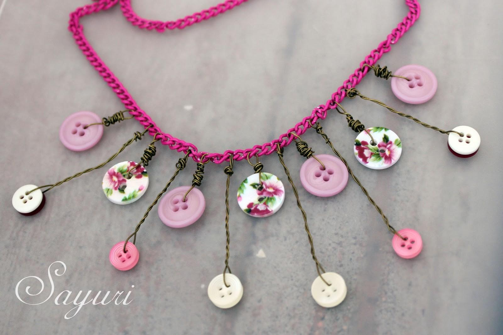 Valentine Showers Love Button Necklace Tutorial