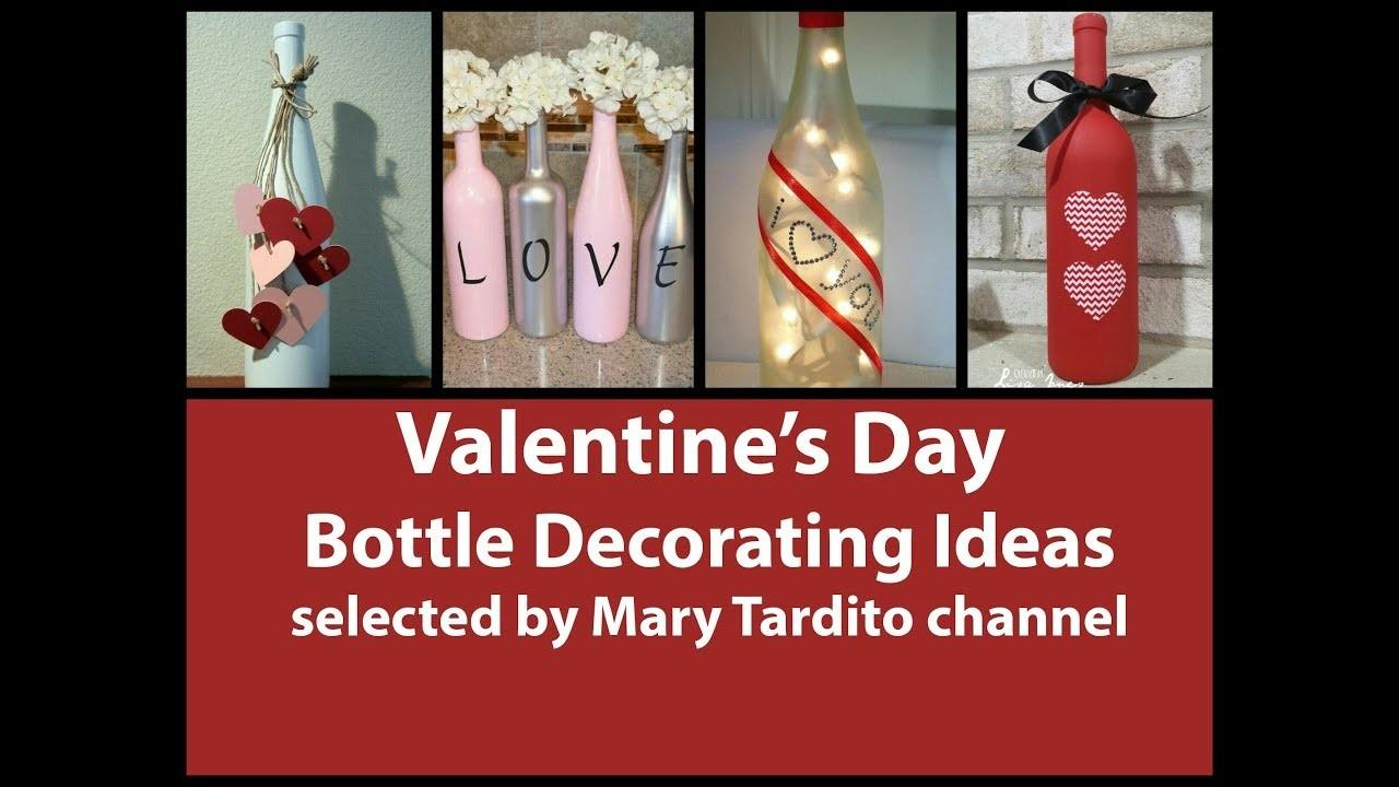 Valentines Bottle Decorating Ideas Diy