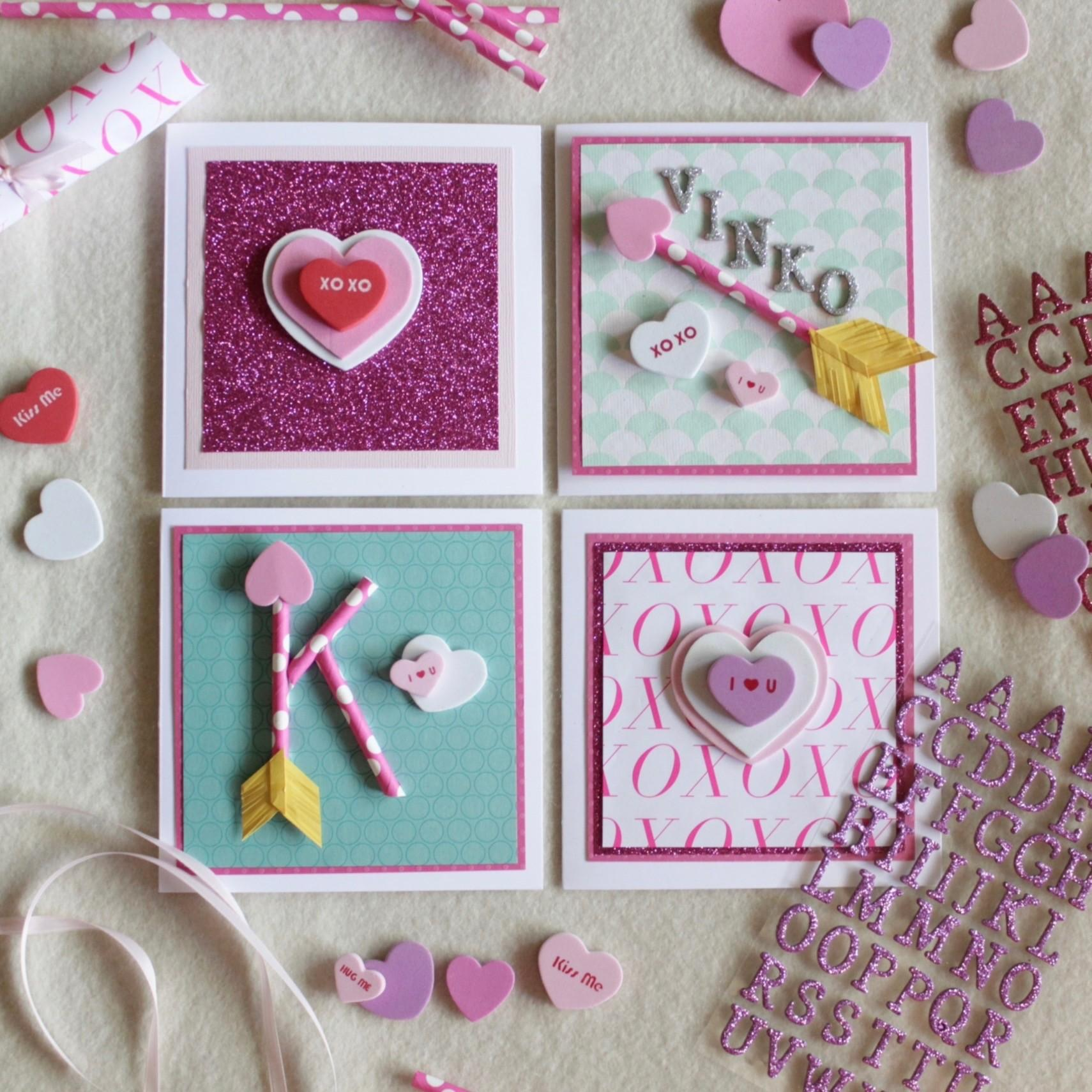 Valentines Day Card Kids Diy Easy Paper Straw Heart