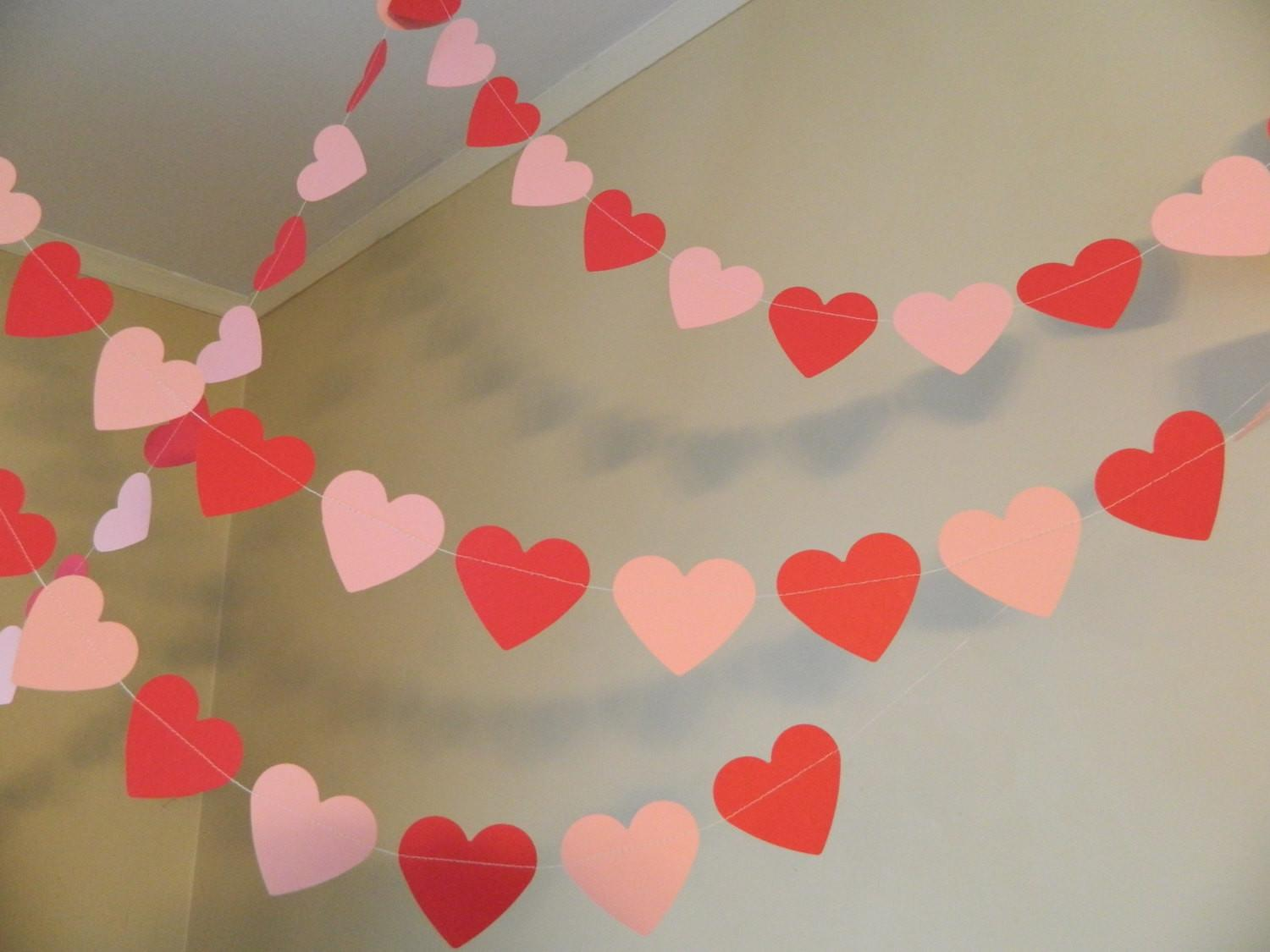 Valentines Day Decorations 6ft Red Pink Paper Heart