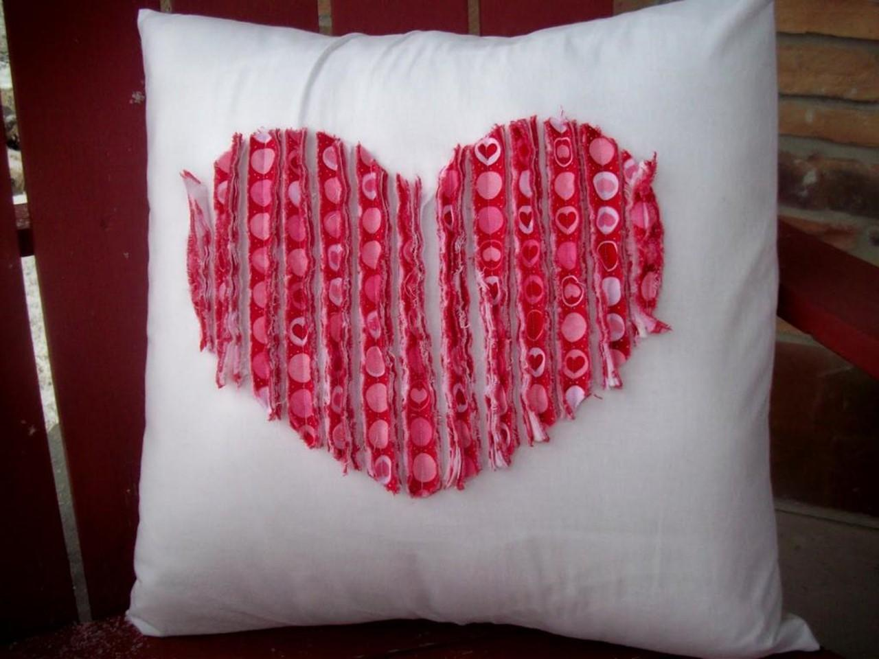 Valentines Day Gift Ideas Men Sew Pillow