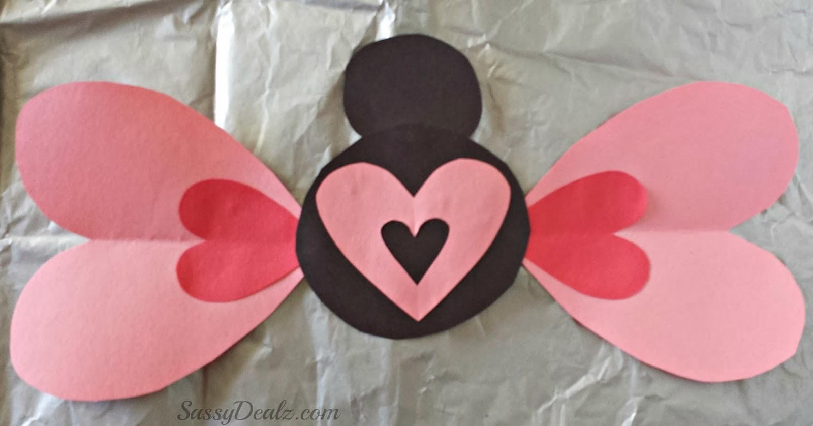 Valentines Day Heart Butterfly Craft Kids Crafty Morning