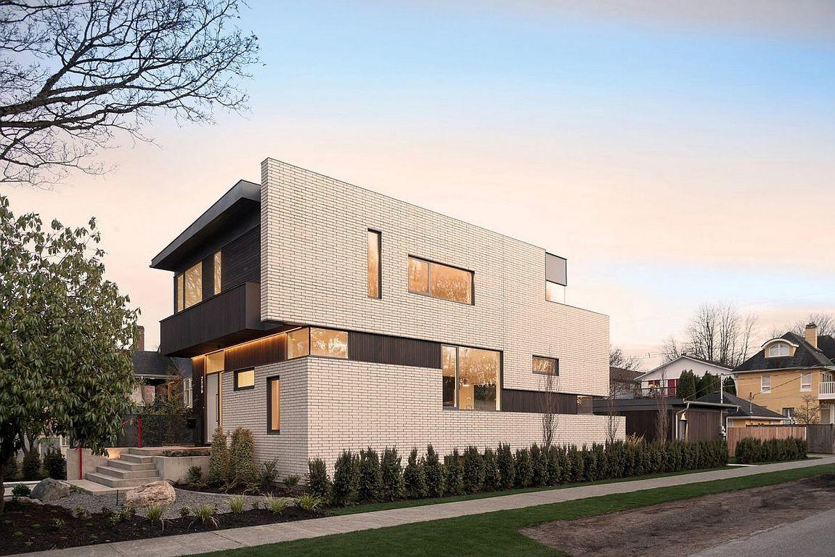 Vancouver Home Wows White Brick Ade