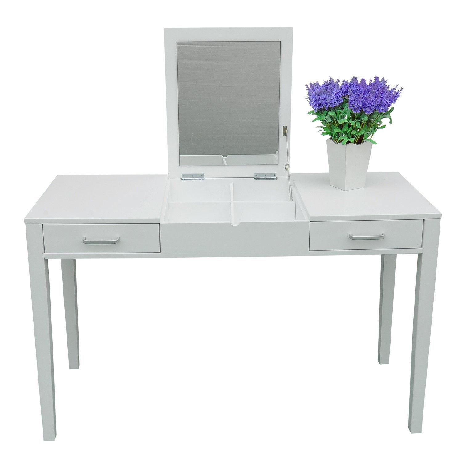 Vanity Makeup Dressing Table Desk Make Lift Top