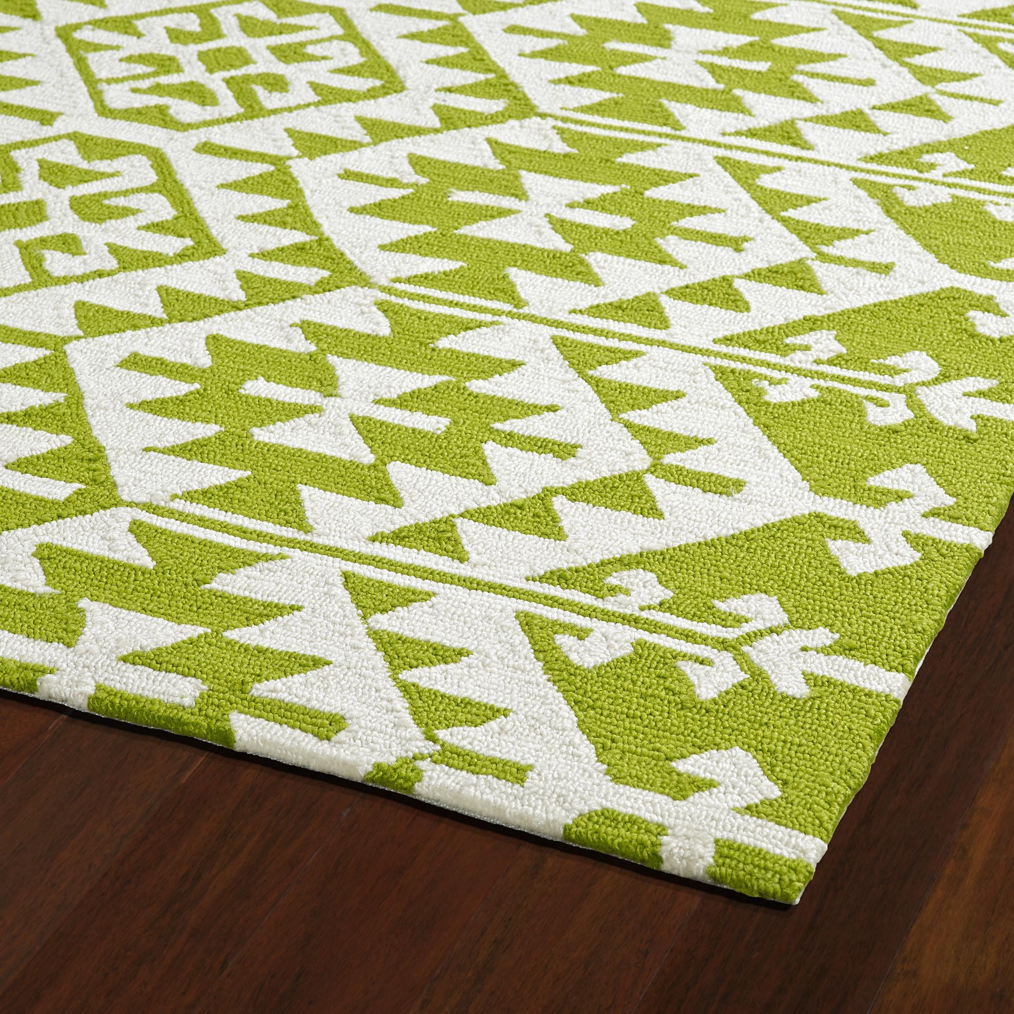 Varick Lime Green Ivory Indoor Outdoor Area Rug
