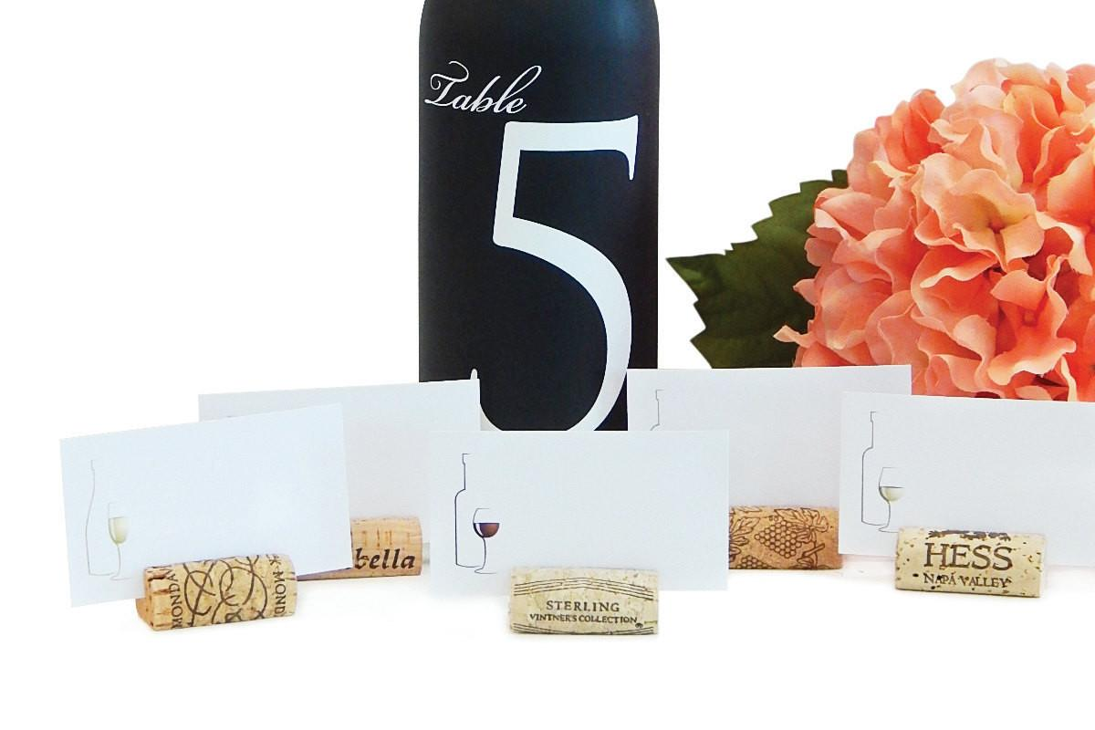 Variety Wine Cork Place Card Holders Made Real Recycled